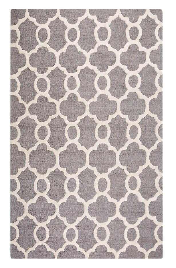 Zile Hand-Tufted Gray Area Rug Rug Size: Rectangle 5'2