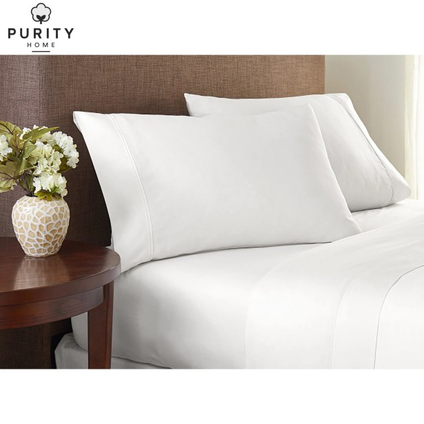 Purity Home 300 Thread Count 100% Cotton Sheet Set Color: Arctic White, Size: King