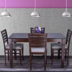 Dining Table Sets Maag 5 Piece Solid Wood Dining Set