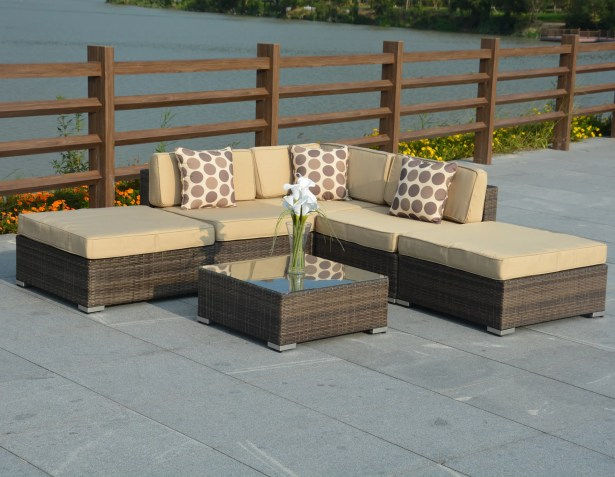 Panama 6 Piece Sectional Set with Cushions