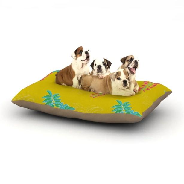 Gukuuki 'Ipanema' Dog Pillow with Fleece Cozy Top Size: Small (40