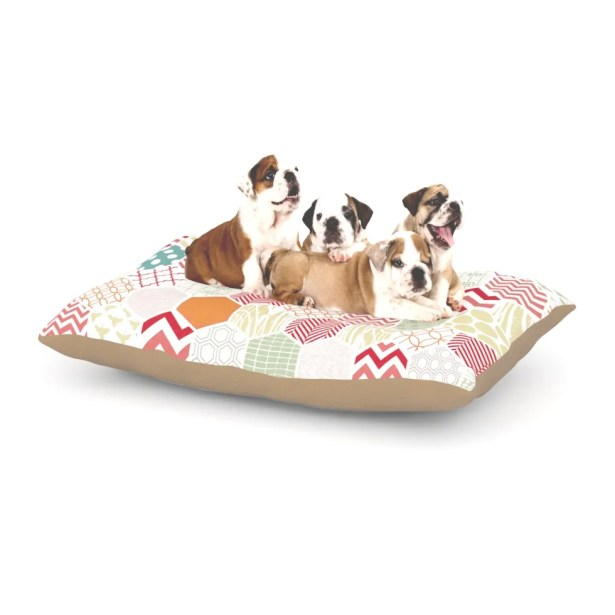Heidi Jennings 'Geo Pastel' Geometric Dog Pillow with Fleece Cozy Top Size: Small (40