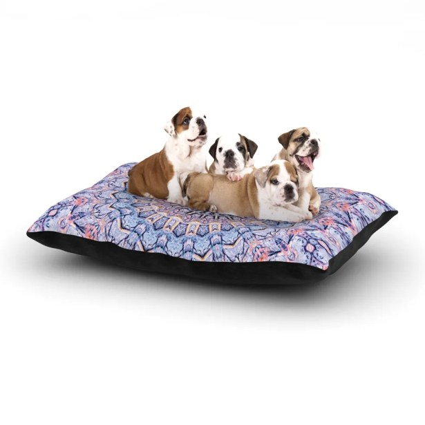 Iris Lehnhardt 'Summer Lace II' Circle Dog Pillow with Fleece Cozy Top Size: Small (40