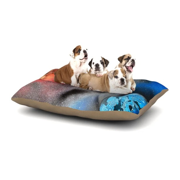 Infinite Spray Art 'Sun VS. Moon' Planet Dog Pillow with Fleece Cozy Top Size: Small (40