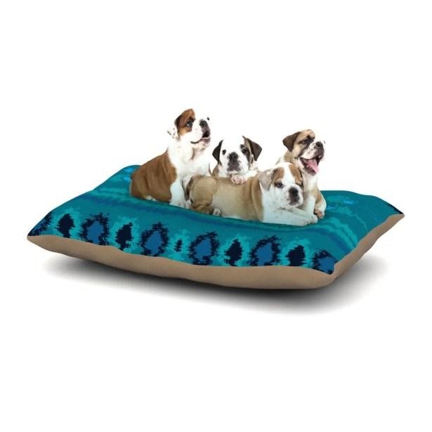 Nina May 'Nava' Tribal Dog Pillow with Fleece Cozy Top Size: Small (40