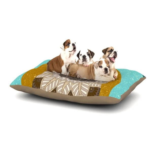 Art Love Passion 'Otter in Water' Dog Pillow with Fleece Cozy Top Size: Small (40
