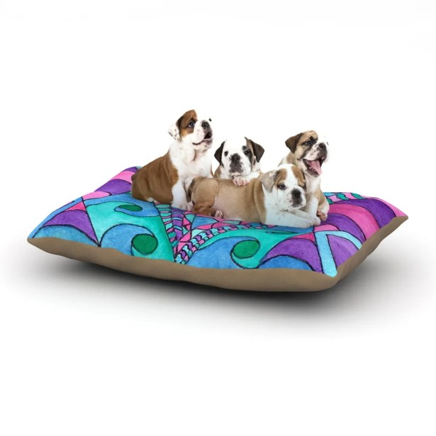 Rosie Brown 'Gatsby Inspired' Dog Pillow with Fleece Cozy Top Size: Small (40
