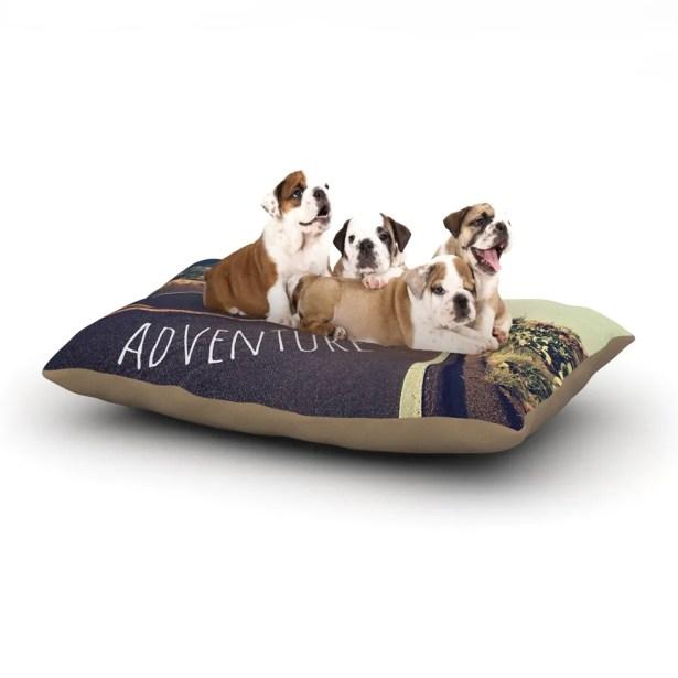 Sylvia Cook 'Adventure' Desert Road Dog Pillow with Fleece Cozy Top Size: Small (40