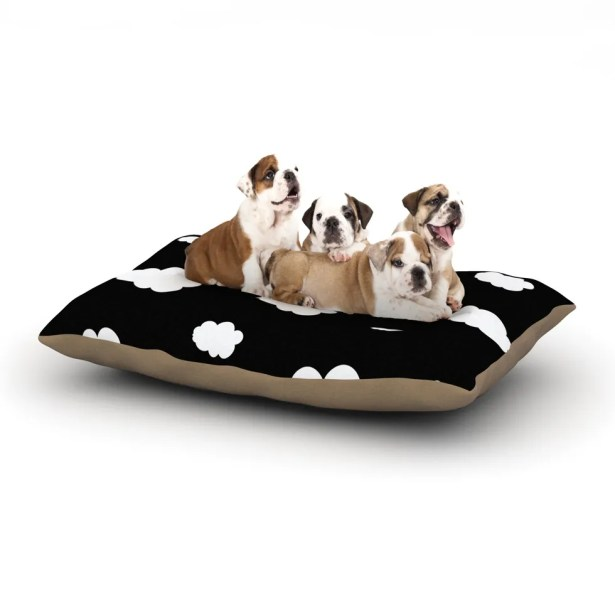 Suzanne Carter 'Clouds' Dog Pillow with Fleece Cozy Top Size: Small (40