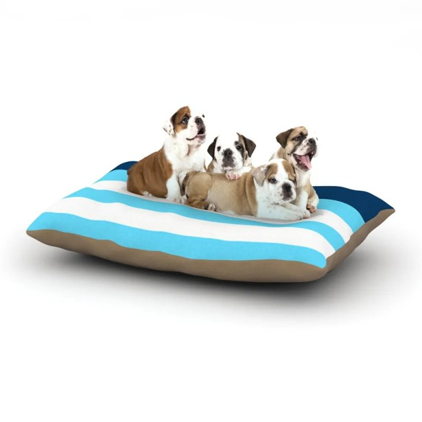 Trebam 'Nauticki Blue' Dog Pillow with Fleece Cozy Top Size: Small (40