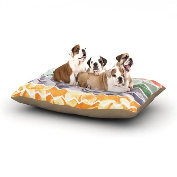 Daisy Beatrice 'Desert Dreams' Chevron Dog Pillow with Fleece Cozy Top Size: Small (40