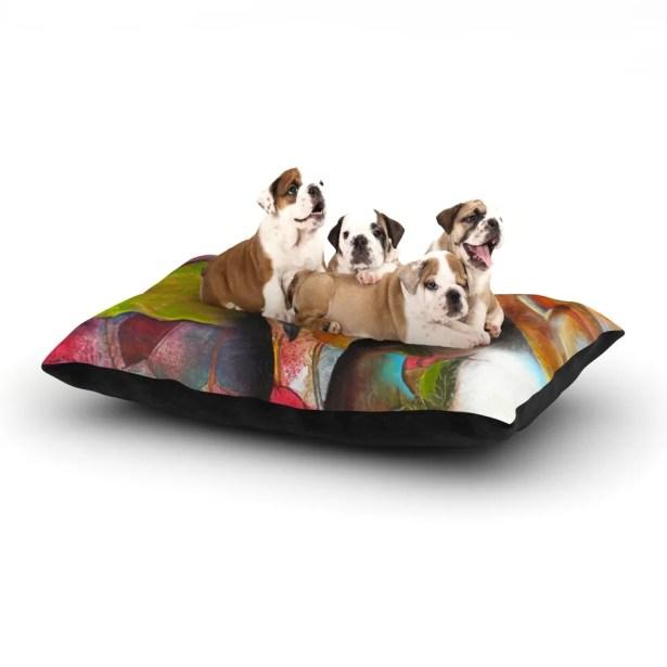 Kristin Humphrey 'Glimpse' Dog Pillow with Fleece Cozy Top Size: Small (40