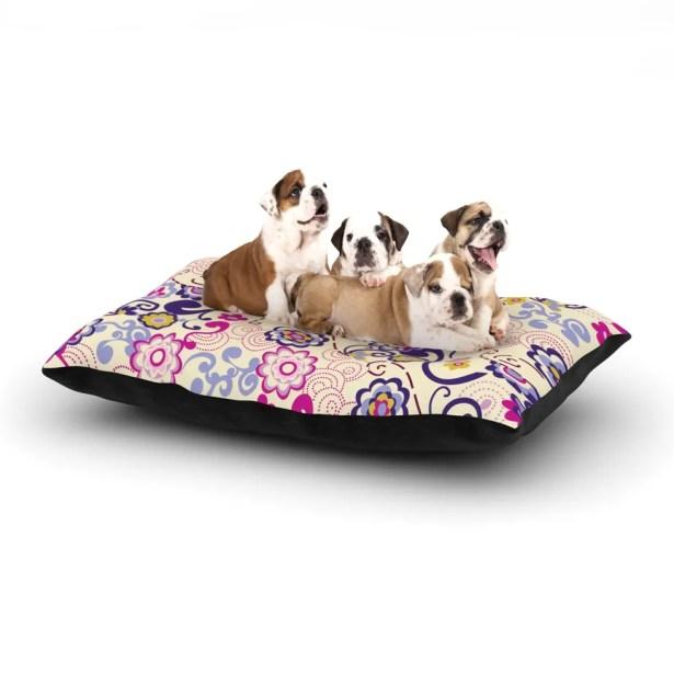 Louise Machado 'Arabesque' Dog Pillow with Fleece Cozy Top Size: Small (40
