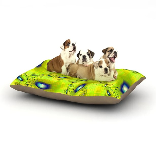 Michael Sussna 'Synchronized Swimming' Dog Pillow with Fleece Cozy Top Size: Small (40
