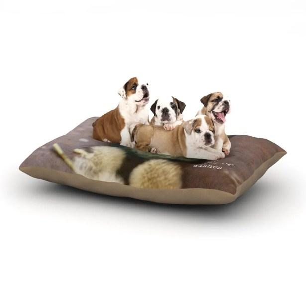 Debbra Obertanec 'Jar of Wishes' Fuzzy Dog Pillow with Fleece Cozy Top Size: Small (40