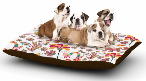 Alisa Drukman 'Fairy Forest' Dog Pillow with Fleece Cozy Top