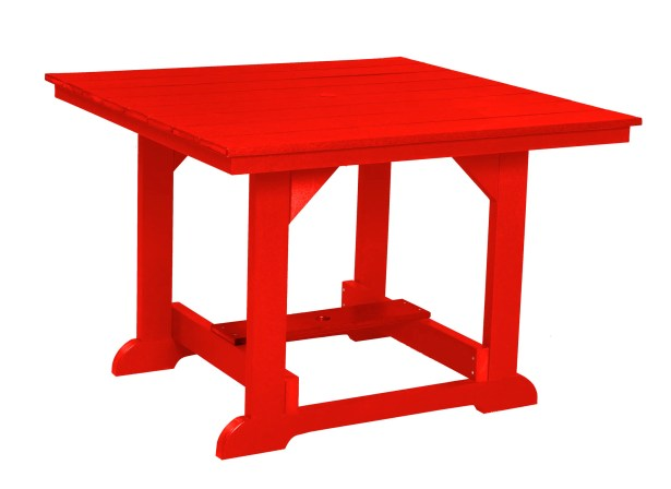 Patricia Square Dining Table Color: Bright Red