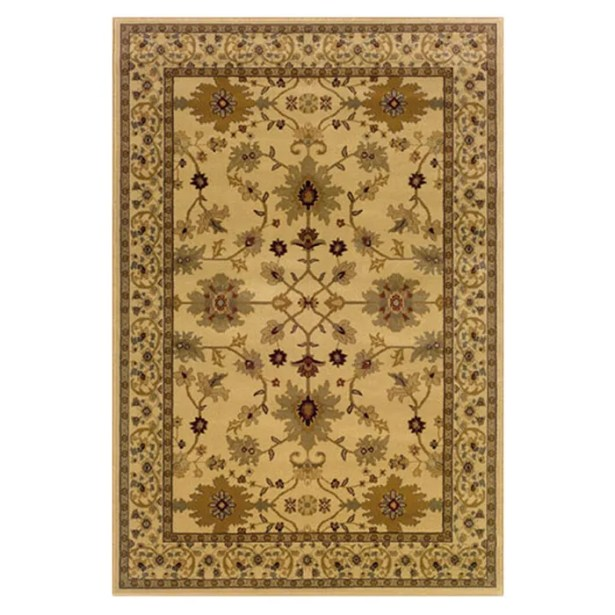 Abell Ivory/Green Area Rug Rug Size: Rectangle 5' x 7'6