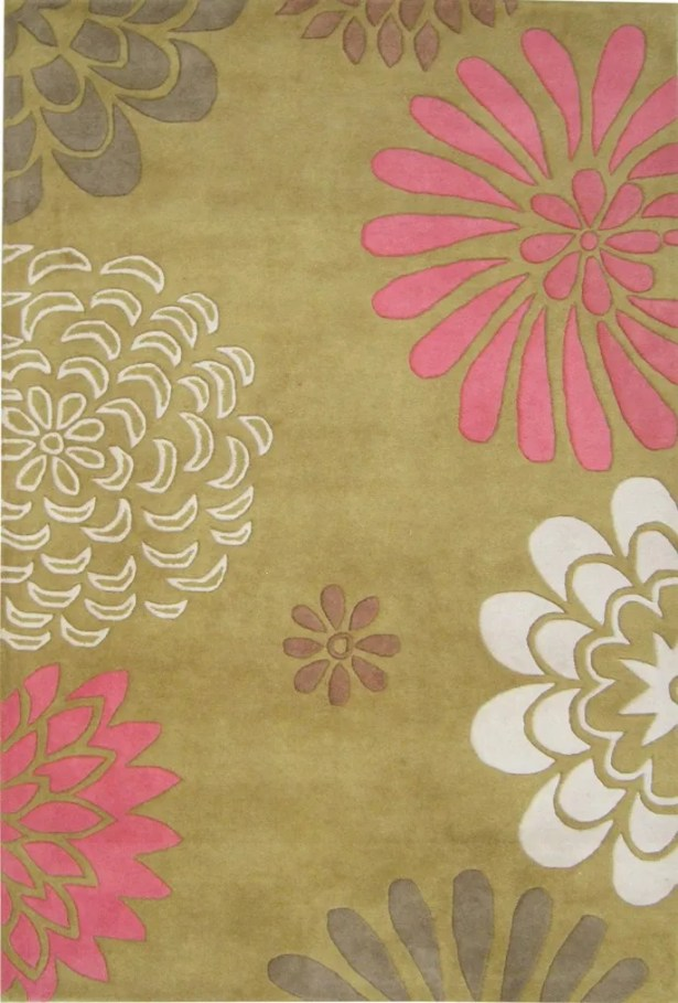Oatfield Hand-Tufted Green Area Rug Rug Size: Rectangle 8' x 10'