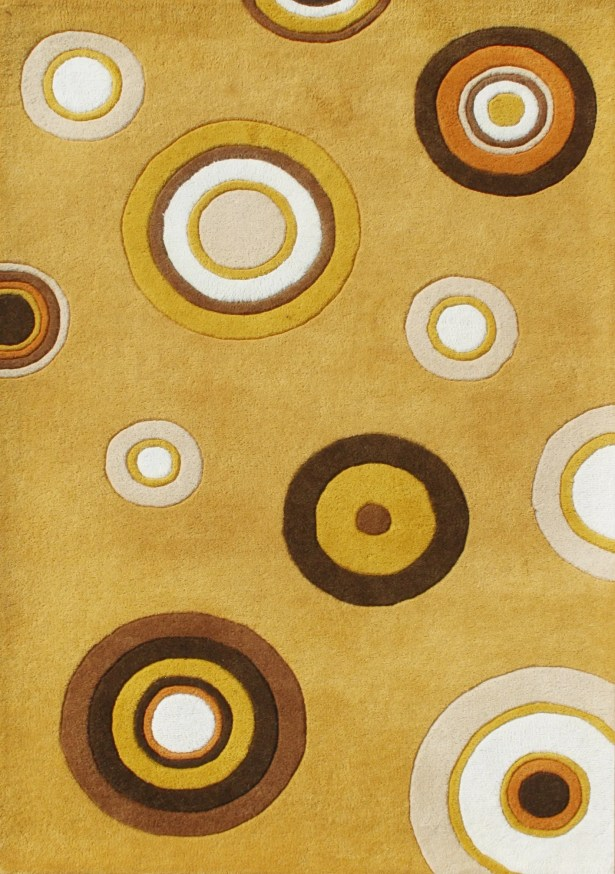 Orodell Hand-Tufted Yellow Area Rug Rug Size: 8' x 10'