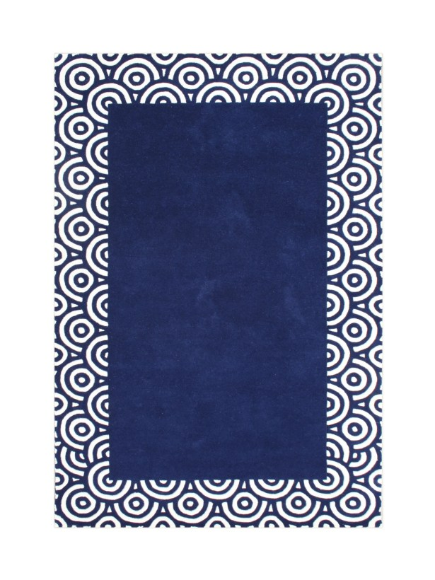 Butte Hand-Tufted Blue Area Rug Rug Size: 8' x 10'