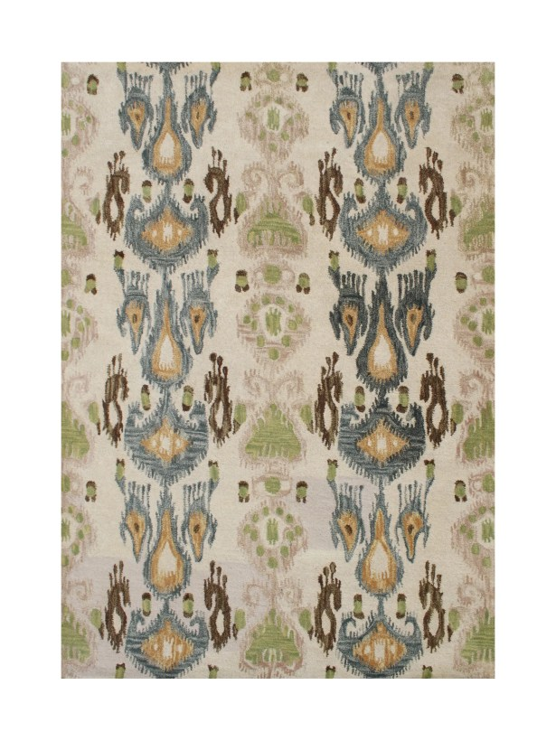 Castillo Hand-Tufted Beige/Green Area Rug Rug Size: 8' x 10'