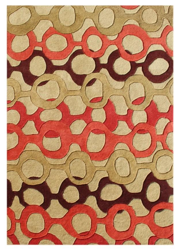De Soto Hand-Tufted Russet Brown Area Rug Rug Size: 9' x 12'