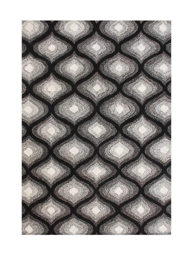 Julian Hand-Tufted Black Area Rug Rug Size: 8' x 10'