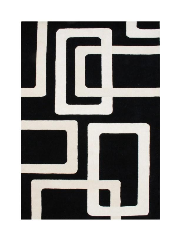 Leif Hand-Tufted Black Area Rug Rug Size: 8' x 10'