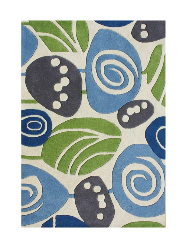 Frobisher Hand-Tufted Winter White Area Rug Rug Size: 5' x 8'