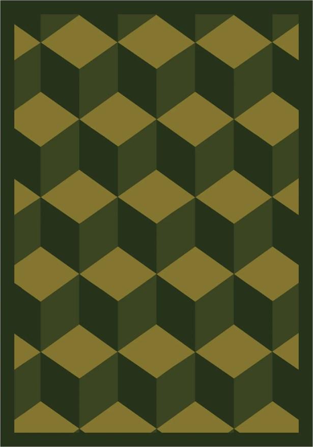 Green Area Rug Rug Size: 7'8
