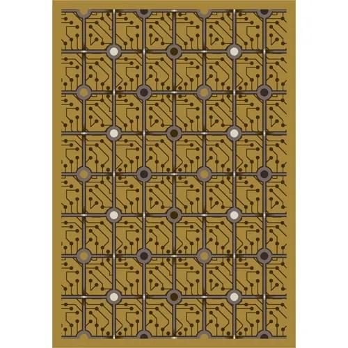 Yellow Electrode Area Rug Rug Size: 5'4