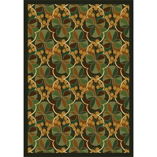 Green Area Rug Rug Size: 7'8