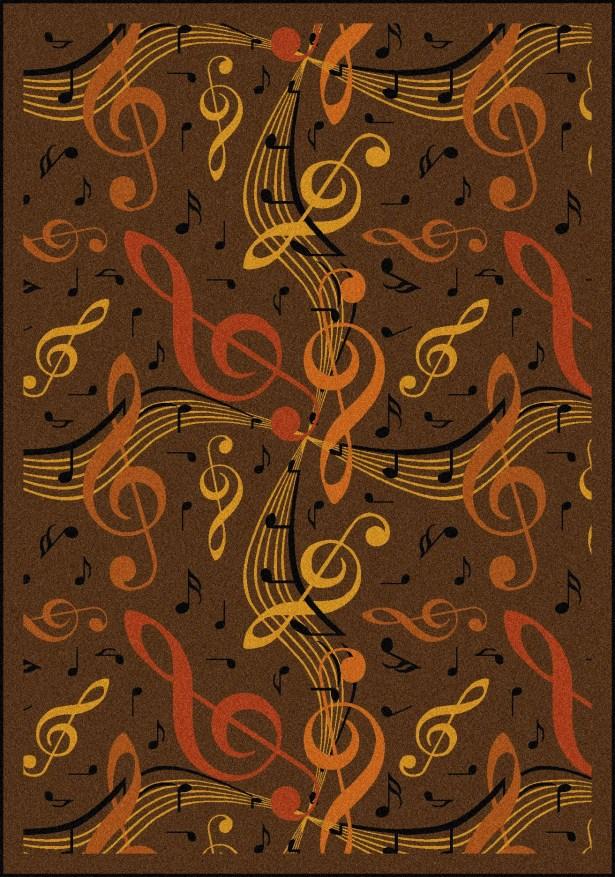 Brown/Orange Area Rug Rug Size: 3'10