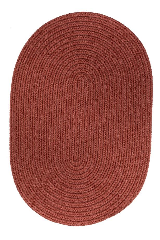 Handmade Terra Cotta Indoor/Outdoor Area Rug Rug Size: Oval 10' x 13'