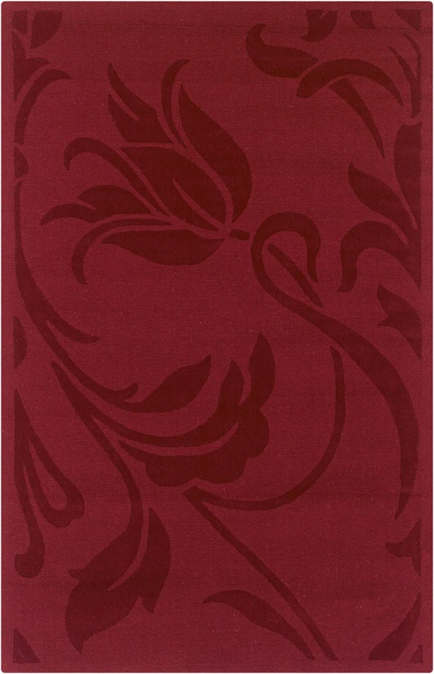 Hand-Woven Red Area Rug Rug Size: Runner 2'6