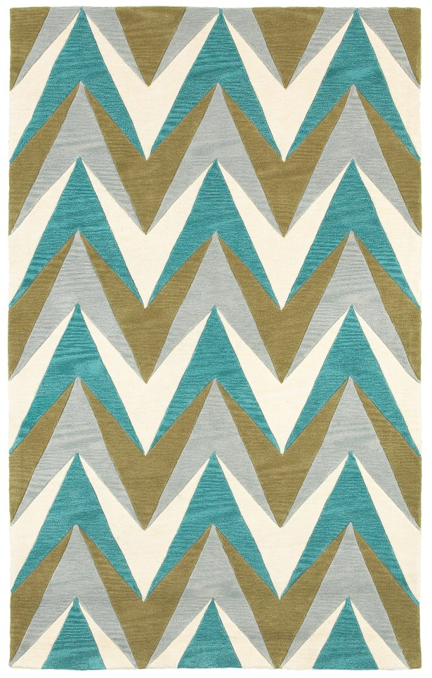 Hand-Tufted Area Rug Rug Size: Rectangle 8' x 10'