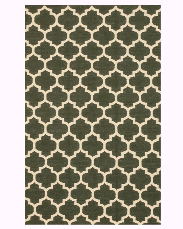 Handmade Green Area Rug Size: Rectangle 5' x 8'
