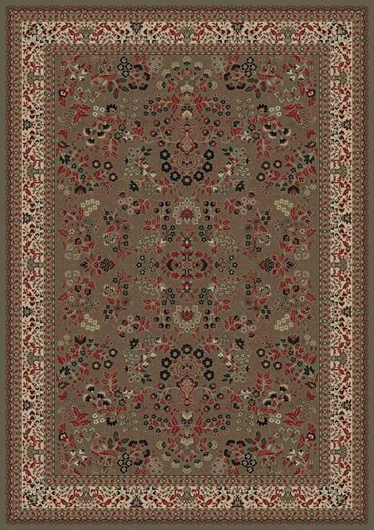 Persian Classics Oriental Sarouk Green Area Rug Rug Size: Rectangle 7'10