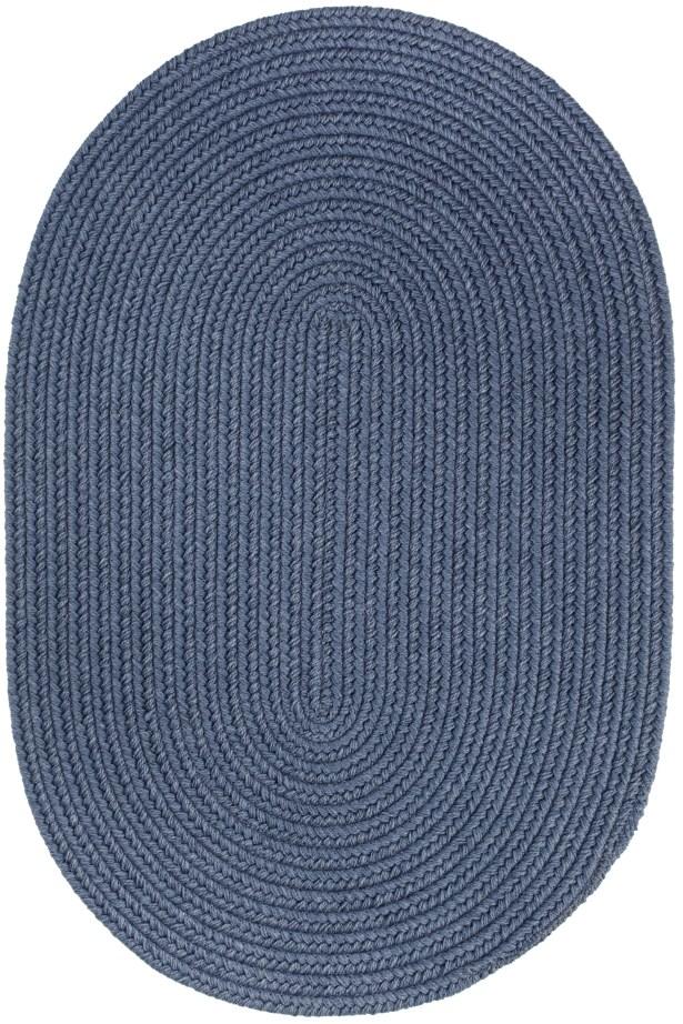 Handmade Sailor Blue Area Rug Rug Size: Oval  8' x 11'