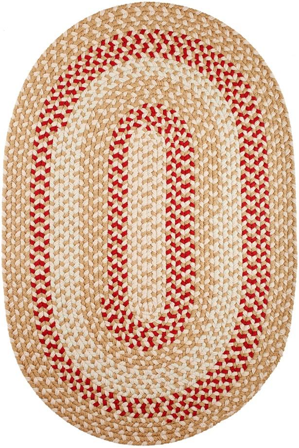 Handmade Natural Indoor/Outdoor Rug Rug Size: Oval 5' x 8'