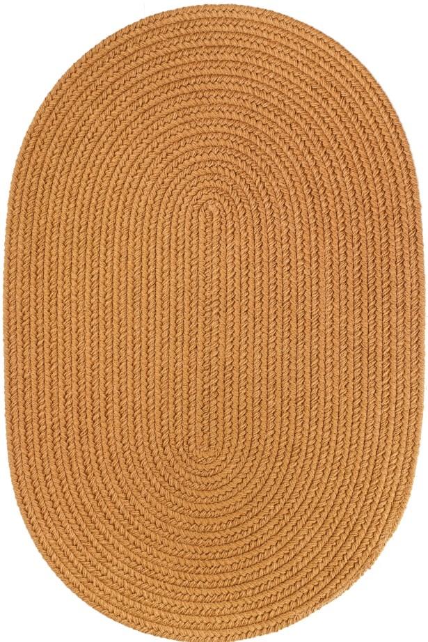 Handmade Gold Indoor/Outdoor Area Rug Rug Size: Oval 8' x 11'