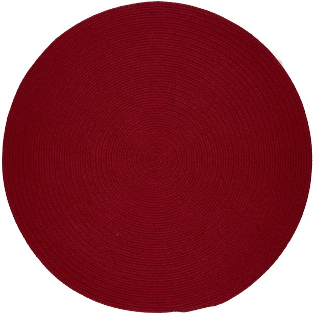 Handmade Brilliant Red Indoor/Outdoor Area Rug Rug Size: Round 8'