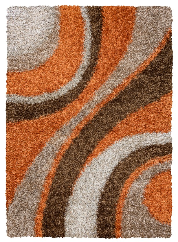 Hand-Tufted Brown Area Rug Rug Size: Rectangle 6' x 9'