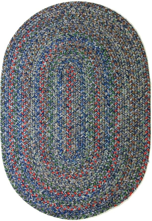Rudauli Blue Indoor/Outdoor Area Rug Rug Size: Round 4'