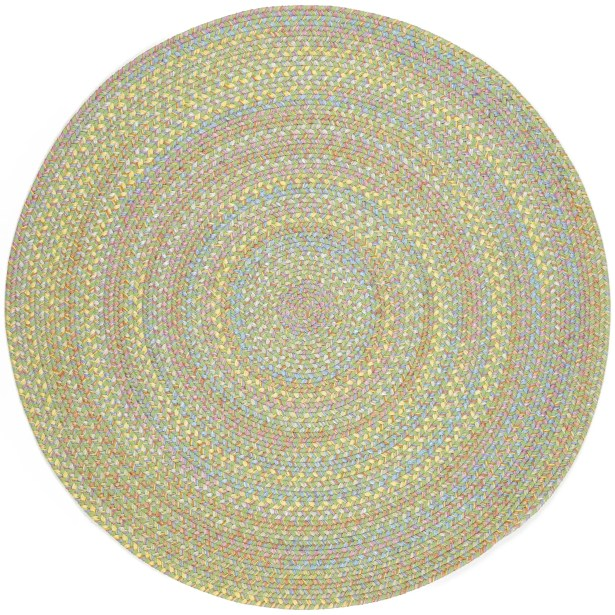 Sahaspur Lime Indoor/Outdoor Area Rug Rug Size: Round 4'