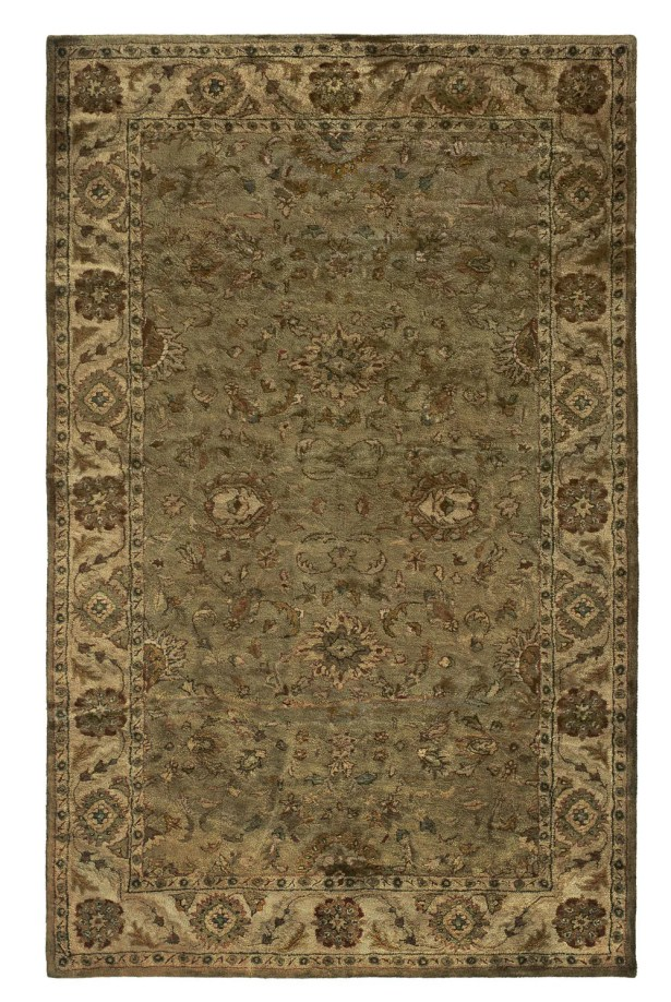 Unjha Hand-Tufted Olive Area Rug Rug Size: Rectangle 5' x 8'