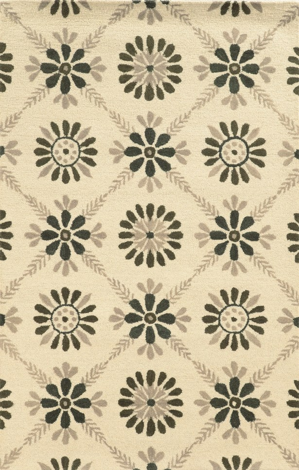 Sicily Hand-Tufted Gray/Ivory Area Rug Rug Size: Rectangle 9' x 12'