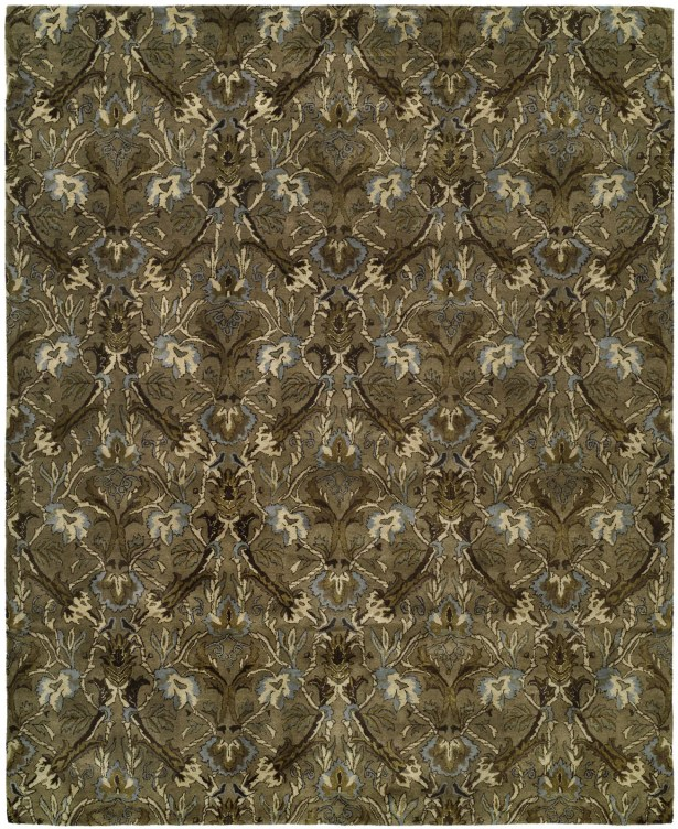 Hand-Tufted Brown Area Rug Rug Size: 2' x 3'