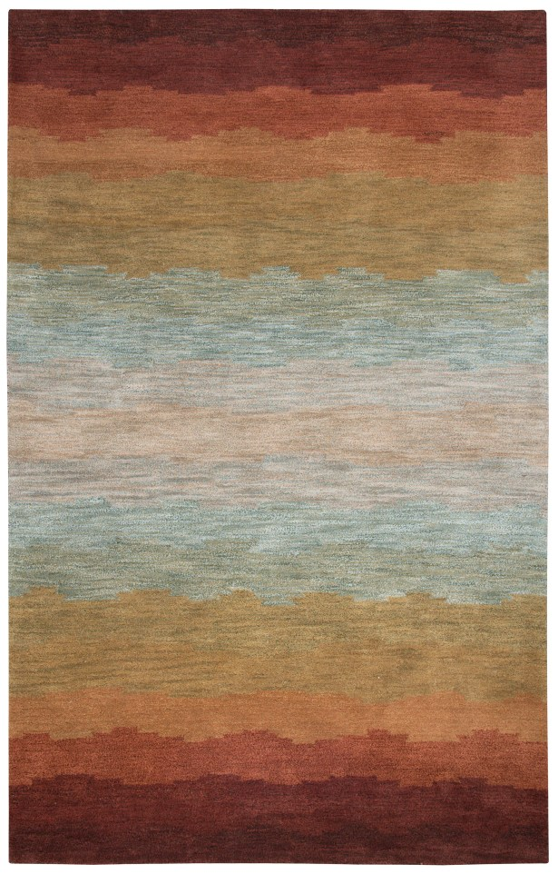 Scotia Hand-Tufted Rust Area Rug Rug Size: Rectangle 3' x 5'
